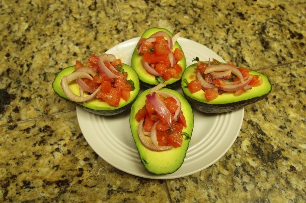 Tomato-Stuff Avocados